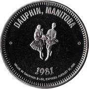Souvenir Dollar - Dauphin, Manitoba – obverse