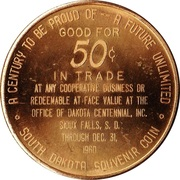 50 Cents - Sioux Falls, South Dakota – reverse