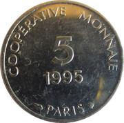 5 Francs - Coopérative Monnaie (Paris) – obverse