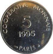 5 Francs - Coopérative Monnaie (Paris) – reverse