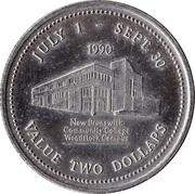 2 Dollars - Woodstock, New Brunswick – reverse