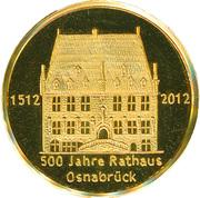 500 Jahre Rathaus Osnabrück – obverse