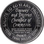 Onoway Trade Dollar - Onoway, Alberta – reverse