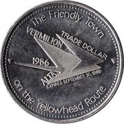 Trade Dollar - Vermilion, Alberta – reverse