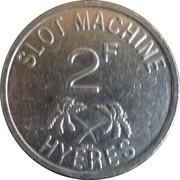 2 Francs - Casino Des Palmiers (Hyeres) – reverse