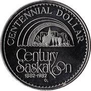 Centennial Dollar - Saskatoon, Saskatchewan – reverse