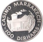 100 Dirhams - Casino Marrakech – reverse