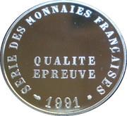 Frappe au module de 20 francs 1991 Pessac – obverse