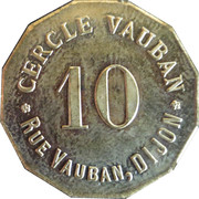 10 Centimes - Cercle Vauban (Dijon) – obverse