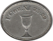 Communion Token - First Church Otago – obverse