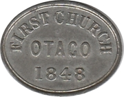 Communion Token - First Church Otago – reverse