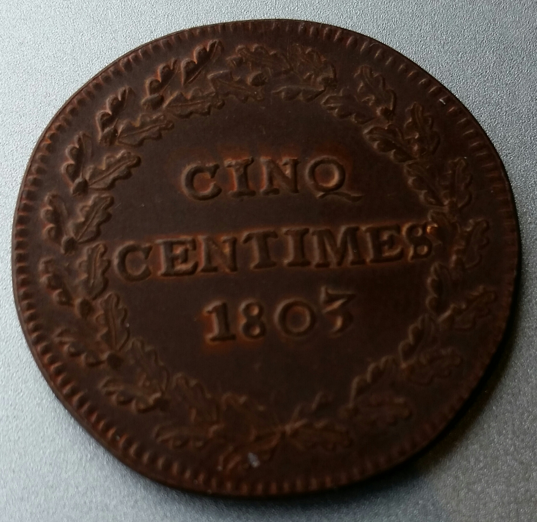 CINQ CENTIMES1803