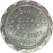 5 Cents - Combination Cigar Store (Terre Haute, Indiana) – obverse