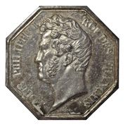 Stockbrokers of the Paris stock exchange - Louis Philippe I – obverse