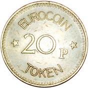 20 Pence - Eurocoin Token (Subelectro Trident Games) – reverse
