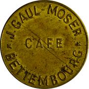 Token - Café Gaul-Moser (Bettembourg) – obverse