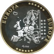 Token - European Currency (Germany) – reverse