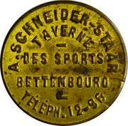 Token - Taverne des Sports (Bettembourg) – obverse