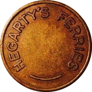 Token - Hegarty's Ferries (New South Wales) – reverse