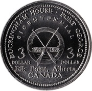 3 Dollars - Elk Point, Alberta – reverse