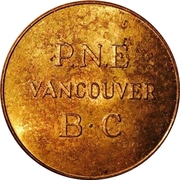 Token - PNE Good For One Adult Admission (Pacific National Exposition, Vancouver) – obverse