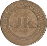 Amusement Token - JK – obverse