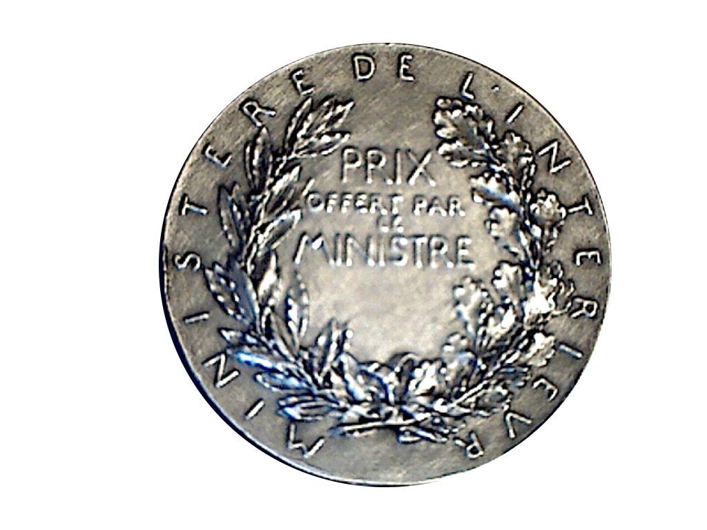 M daille de prix du minist re de l 39 int rieur tokens for Ministere exterieur