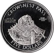 5 Dollars - Crowsnest Pass, Alberta – reverse