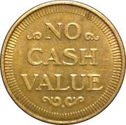 Token - No Cash Value (Eagle looking right; 22 mm; Brass) – reverse