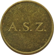 Token - A. S. Z. (OCMW) – obverse