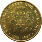 Token - 40 Jahre Bundesrepublik Deutschland (800 Years Hamburg) – obverse