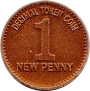 1 New Penny (Decimal Token Coin) – obverse