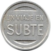 Metro Token - Subte (Buenos Aires) -  obverse
