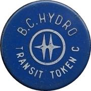 Transit Token C - BC Hydro – obverse