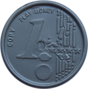 1 Euro – Play Money – reverse