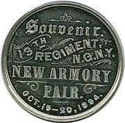1894 13th Regiment N.G.N.Y.  Brooklyn, NY – reverse