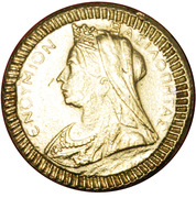 New Year Token - Souvenir Royal Cake (Type of Sovereign of Victoria 1893-1901) – obverse