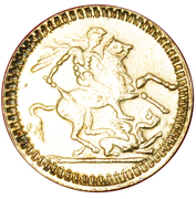 New Year Token - Souvenir Royal Cake (Type of Sovereign of Victoria 1893-1901) – reverse