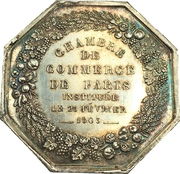Chamber of Commerce of Paris – reverse