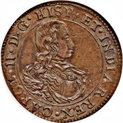 Finance Office Brabant (Anvers) - Charles II – obverse