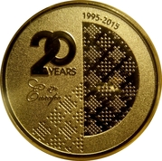 Token - 20 Years of Russian Commercial Bank in Europe – obverse