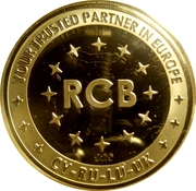 Token - 20 Years of Russian Commercial Bank in Europe – reverse