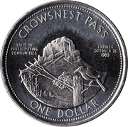 1 Dollar - Crowsnest Pass, Alberta – reverse