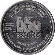 1 Dollar - Lacombe, Alberta – reverse