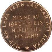 Token - Minne av 1940-talets hjälp till Finland – reverse