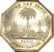 Token - Union des Ports maritime insurance company (Paris) – reverse