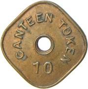 Canteen Token - 10 (I.G. Mint, Bombay) -  reverse