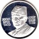 Token - Josip Broz Tito (20 mm; .925) – obverse
