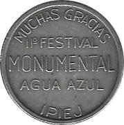 Token - Agua Azule Festival – obverse
