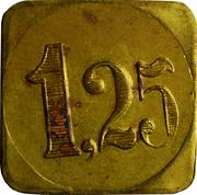 1,25 Francs - Patisserie Ernster-Schumacher (Echternach) – reverse
